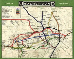 Mapa Metro de Londres 1908