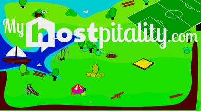 banner dibujo playa myhostpitality